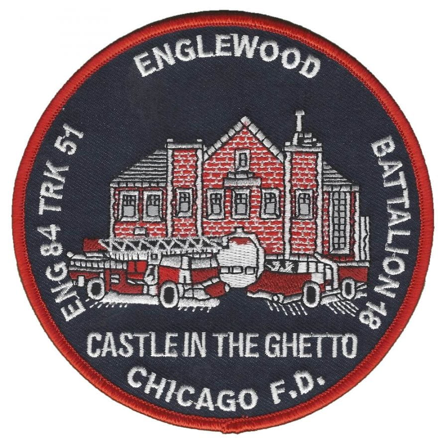Chicago Fire Dept. - Engine 84, Tr 51 Englewood - Patch / Patches