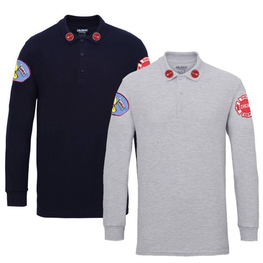 Chicago Fire Dept. - Lieutenant Long Polo Shirt