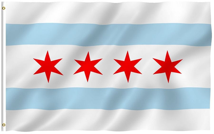 USA - Chicago Flagge/Fahne (150cm x 90cm)