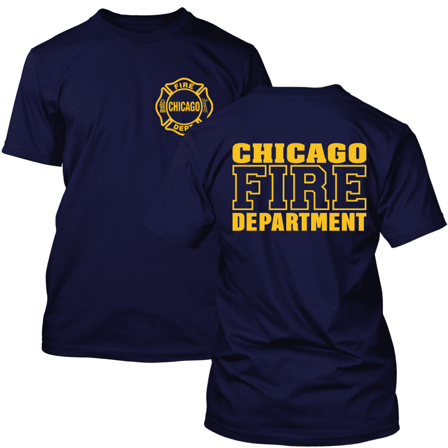 Chicago Fire Dept. T-Shirt (Logo/Lettering in yellow)