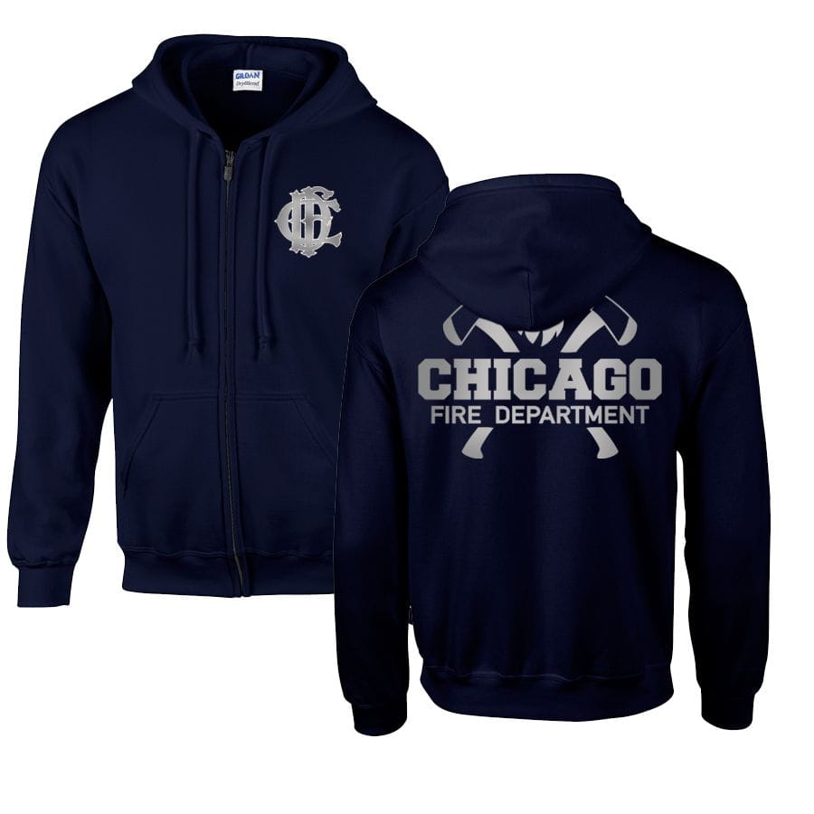 Chicago Fire Dept. - Hooded sweat jacket - With Squad 3 or Truck 81 inscription