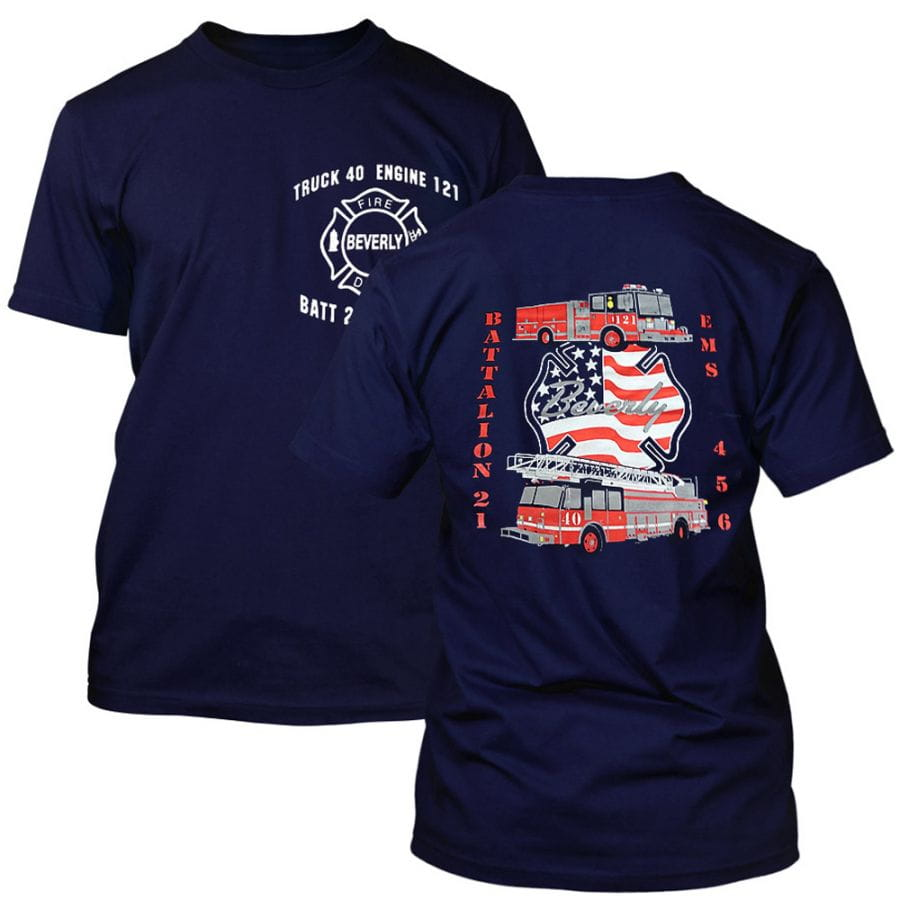 "Chicago Fire Dept. - Engine 121 ""Beverly"" T-Shirt"