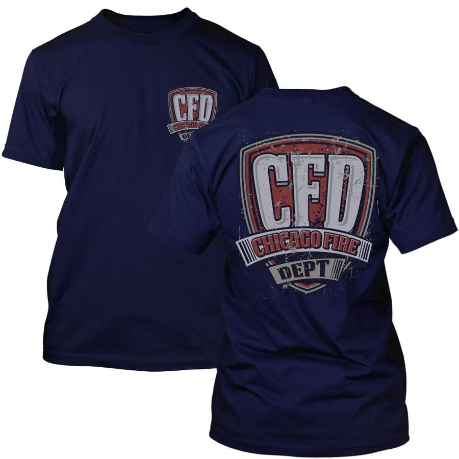 Chicago Fire Dept. - T-Shirt in navy (Vintage Motif)
