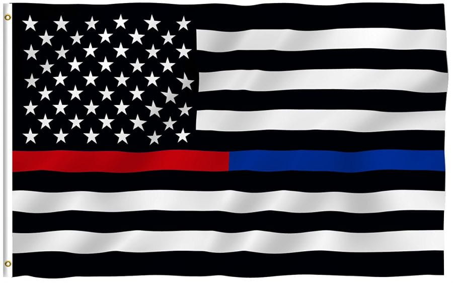 USA Flagge (Blue/Red Line - Police/Firefighter) 150cm x 90cm