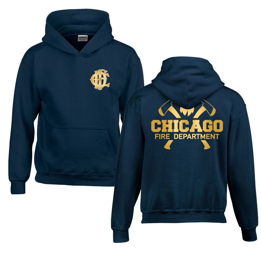 Chicago Fire Dept. - Pullover mit Kapuze für Kinder (Gold Edition)