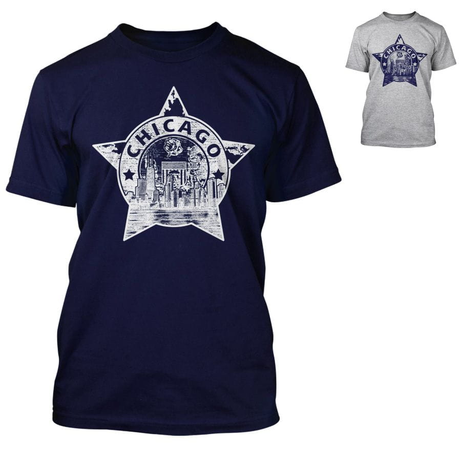Chicago Police Dept. - T-Shirt with Skyline-motif
