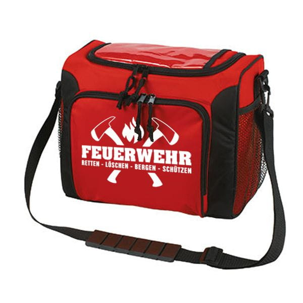 Fire brigade cooling bag in red (axe motive)