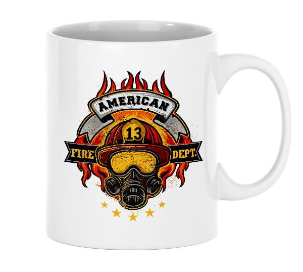 American Firefighter - ceramic cup