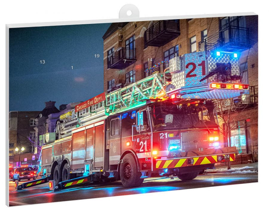 Chicago Fire Department - Advent calendar 2019 + free mini poster (Truck 19)