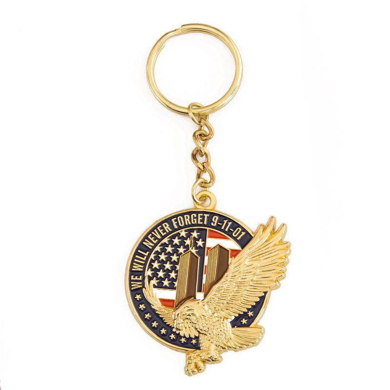 9/11 - We will Never Forget - Keyring pendant