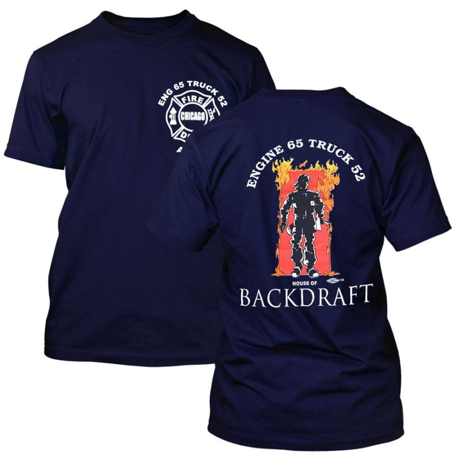 "Chicago Fire Dept. - Engine 65 ""Backdraft"" T-Shirt"