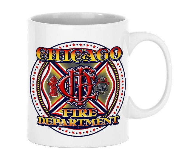 Chicago Fire Dept. - ceramic cup (CFD logo)
