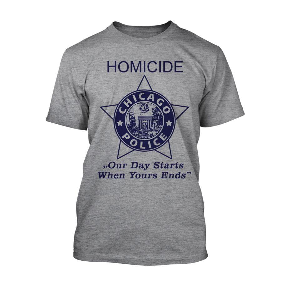 Chicago Police Dept. - Homicide T-Shirt in grey