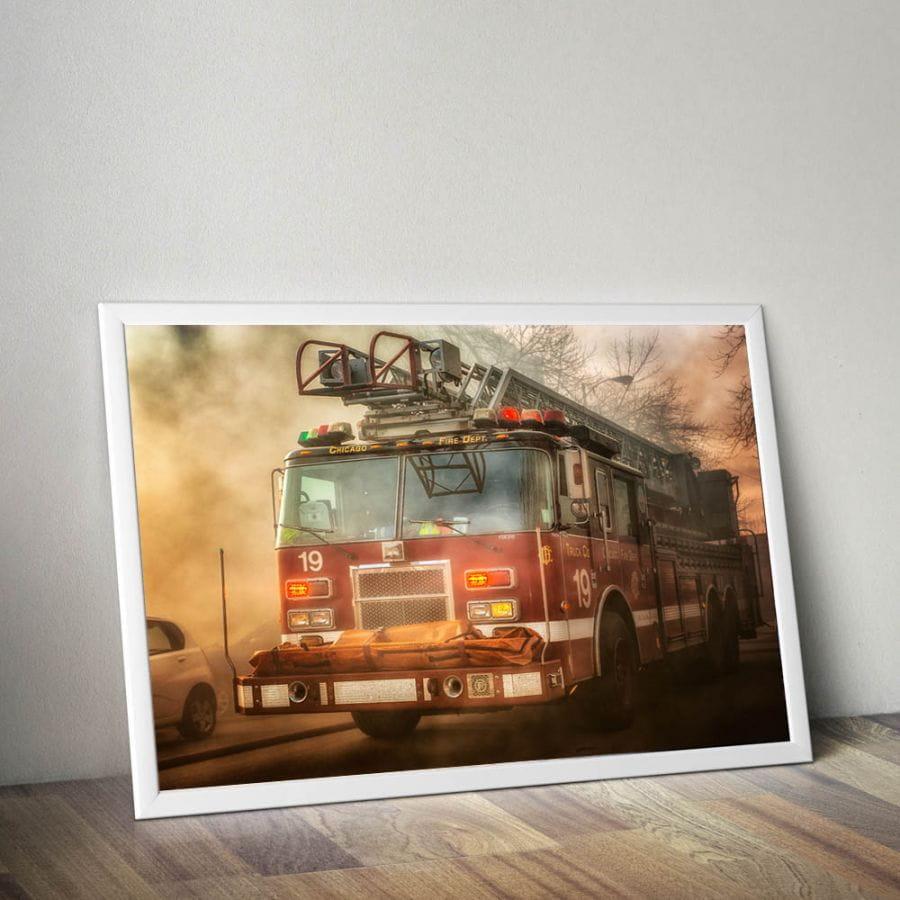 Chicago Fire Dept. - Truck 19 Poster (A1 - 59,4 cm x 84,1 cm)
