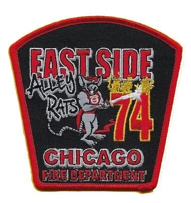 Chicago Fire Dept. - East Side Engine 74 - Patch / Aufnäher