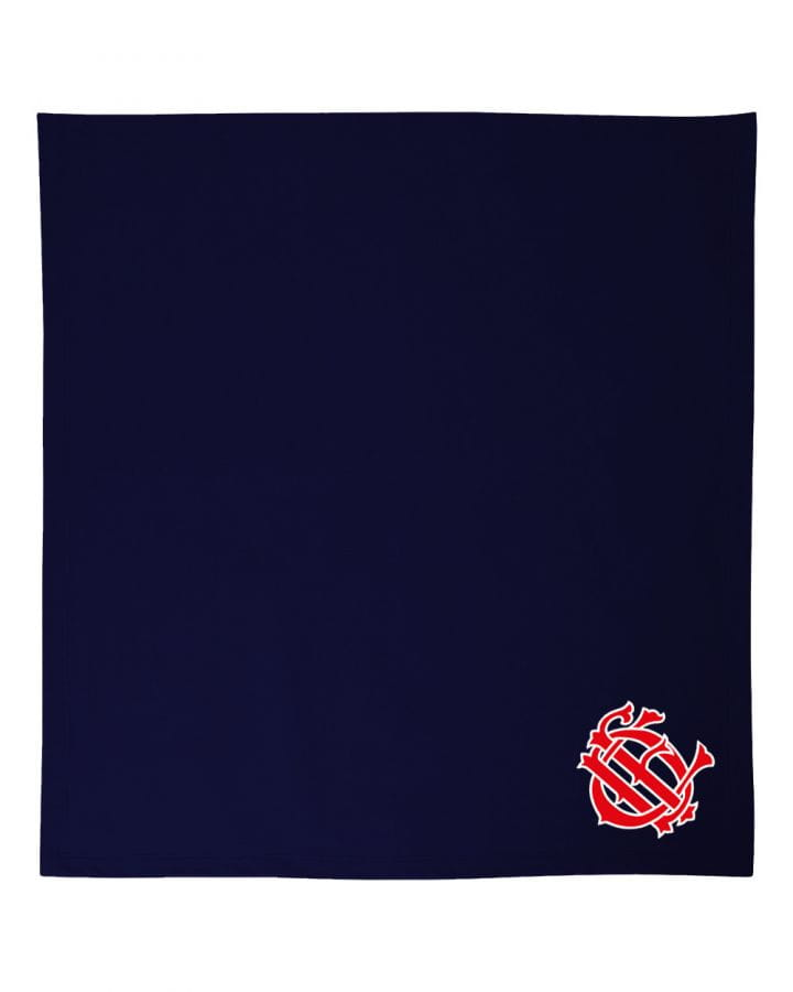 Chicago Fire Dept. - Kuscheldecke in navy (CFD Logo)