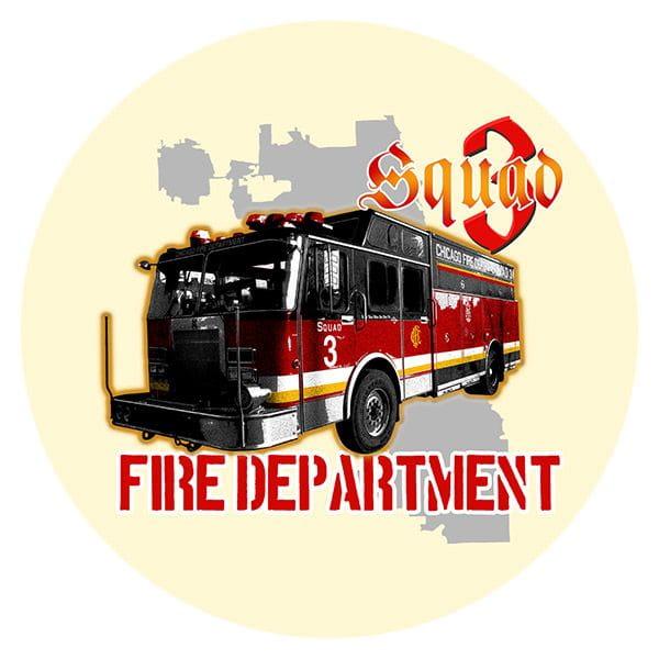 Chicago Fire Dept. - Squad 3 Beermats (Set of 5)