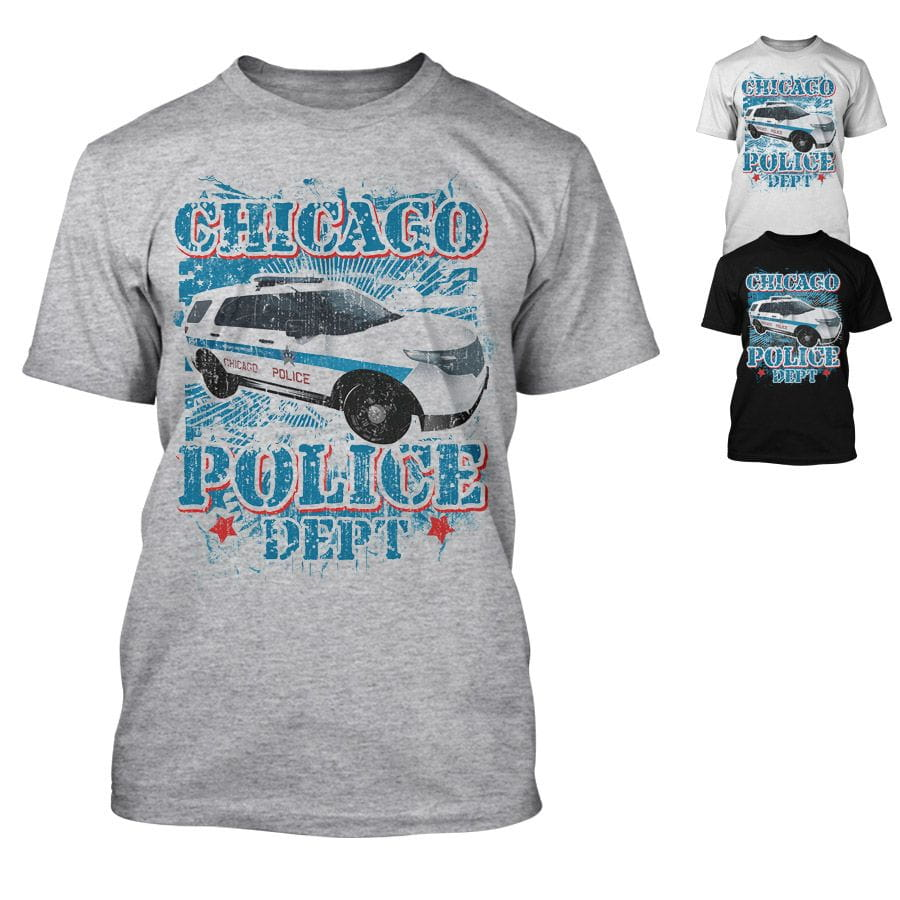 Chicago Police Dept. - Police Car - T-Shirt