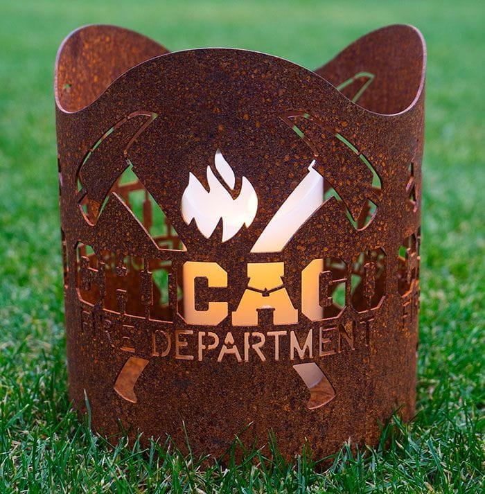 Chicago Fire Dept. - Metal Lantern