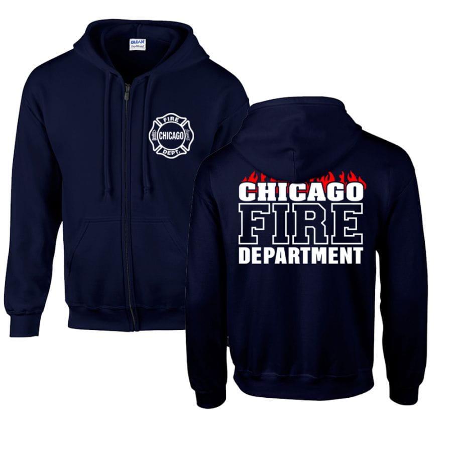 Chicago Fire Dept. - Sweatjacke (Flammen Edition)