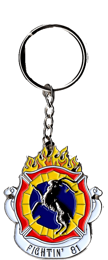 Chicago Fire Dept. - Fighting 81 key fob