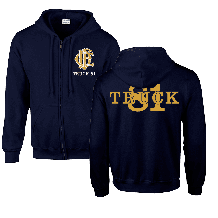 Chicago Fire Dept. - Truck 81 Sweat Jacket (Gold Edition)