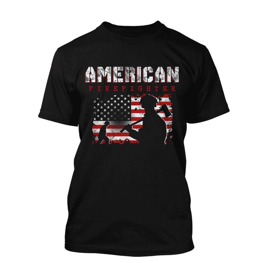American Firefighter - T-Shirt in schwarz