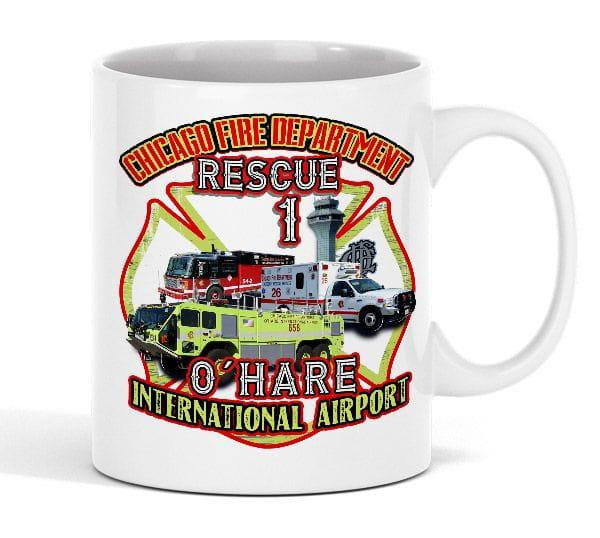 Chicago Fire Dept. - O´Hare Intl. Airport Rescue 1 - Tasse aus Keramik (330ml)