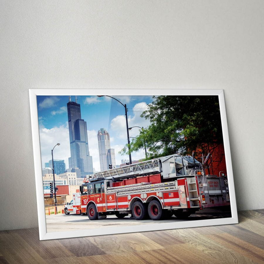 Chicago Fire Dept. poster (A1 - 59.4 cm x 84.1 cm)