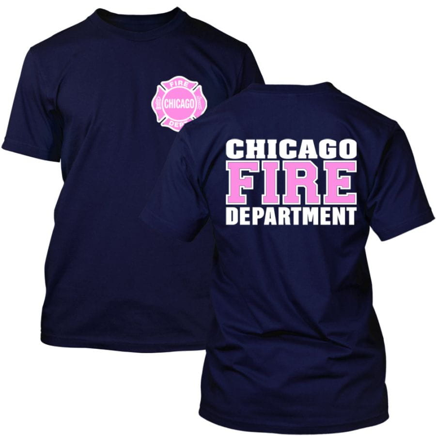 Chicago Fire Dept. - T-Shirt (Pink/Weiß Edition)