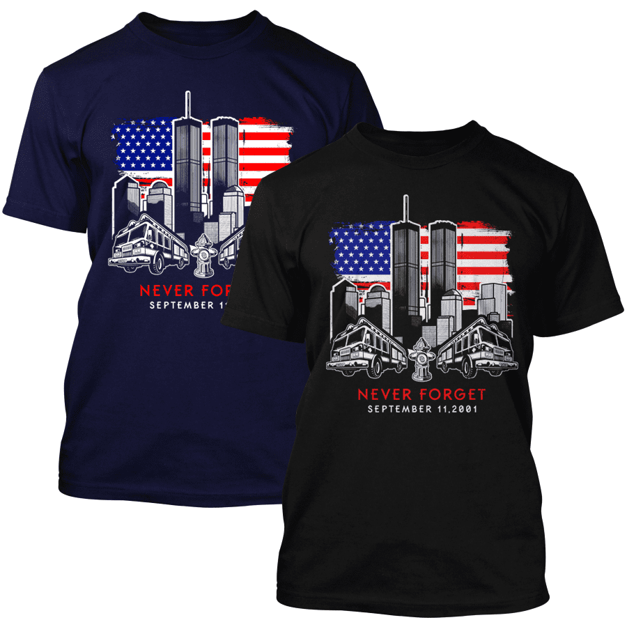 9/11 - Never forget - T-Shirt