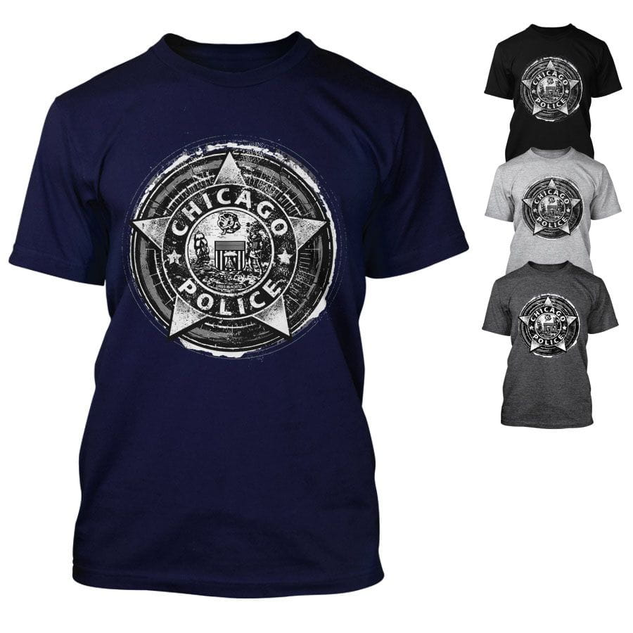 Chicago Police Dept. - T-shirt in various colours. Colors