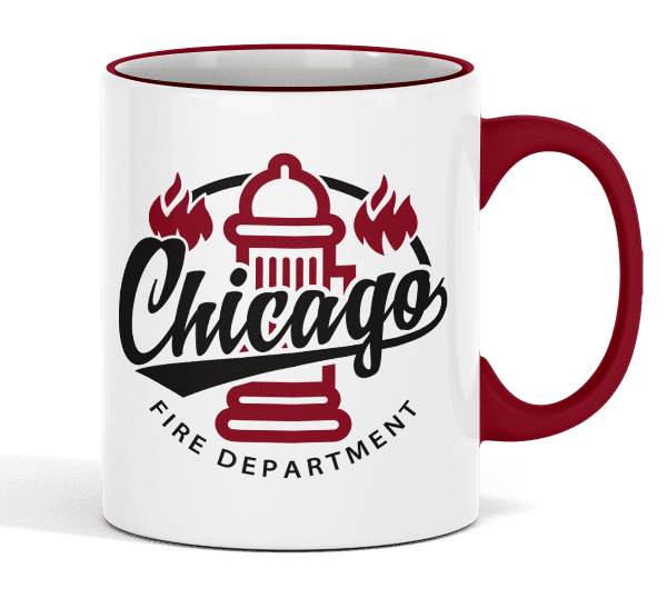Chicago Fire Dept. - Ceramic cup (hydrant)