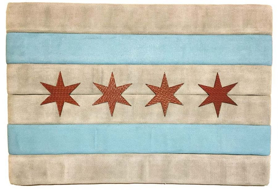 Chicago Flag from old CFD fire hoses