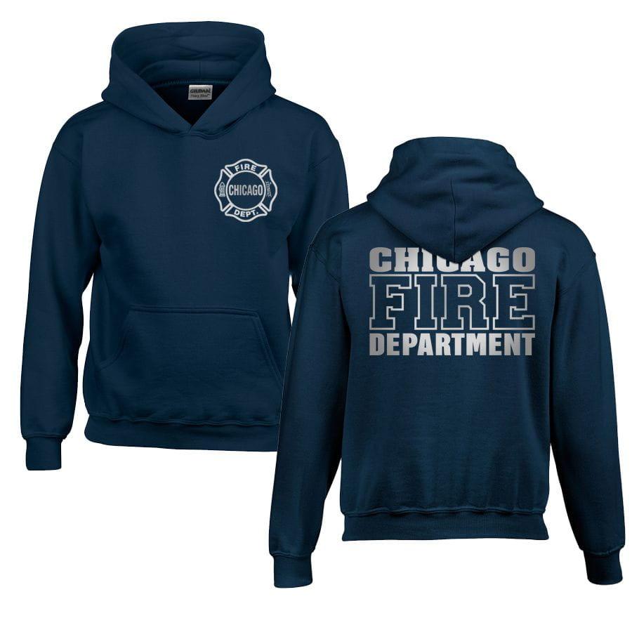 Chicago Fire Dept. - Pullover mit Kapuze für Kinder (Silver Edition)