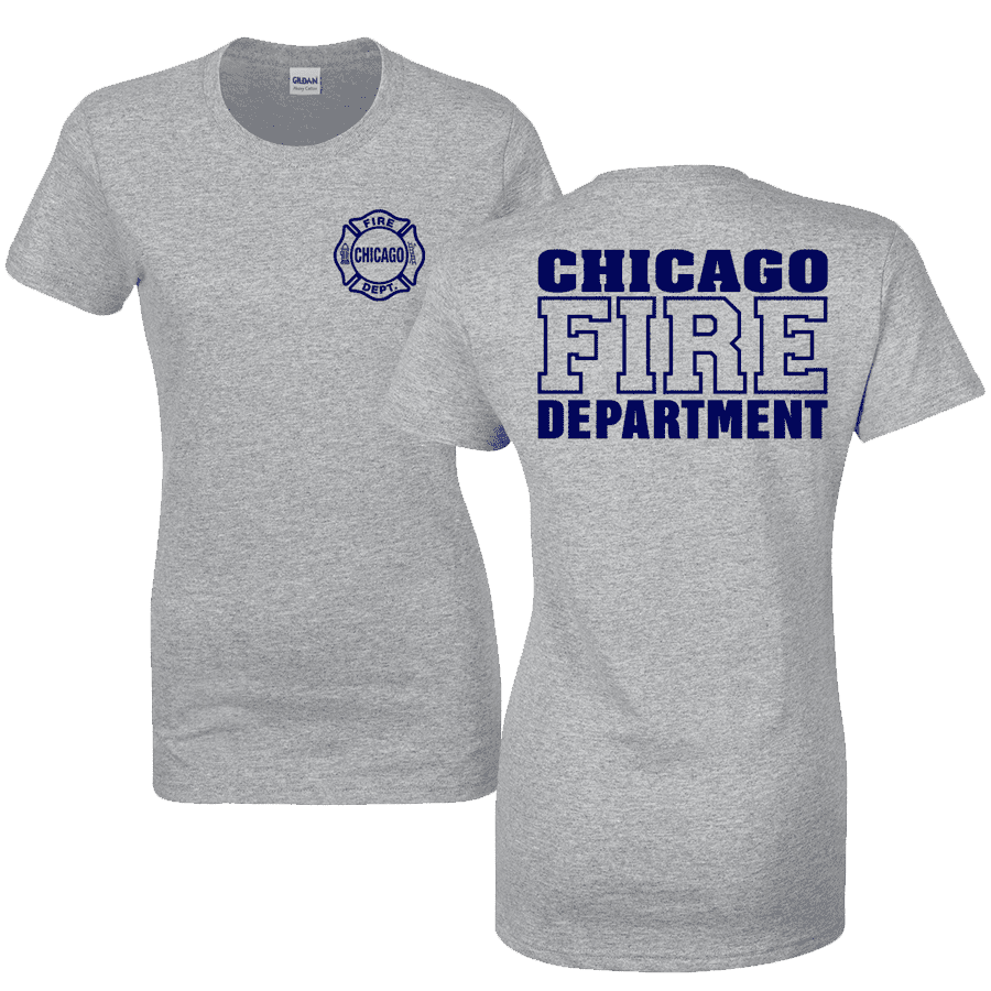 Chicago Fire Dept. - T-Shirt for women in grey