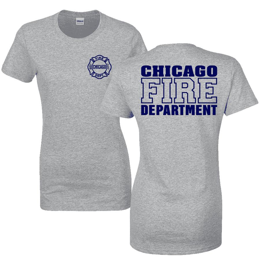 Chicago Fire Dept. - T-Shirt for women in grey