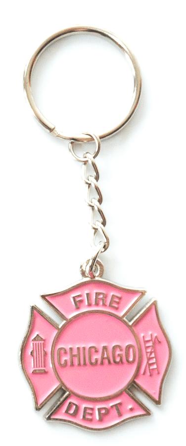 Chicago Fire Dept. - Keychain in pink