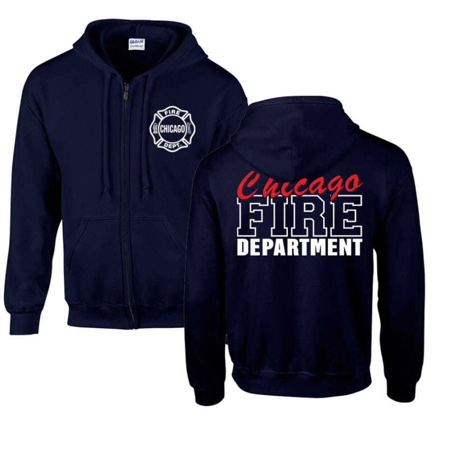 Chicago Fire Dept. - Hooded Sweat Jacket (Special Edition)