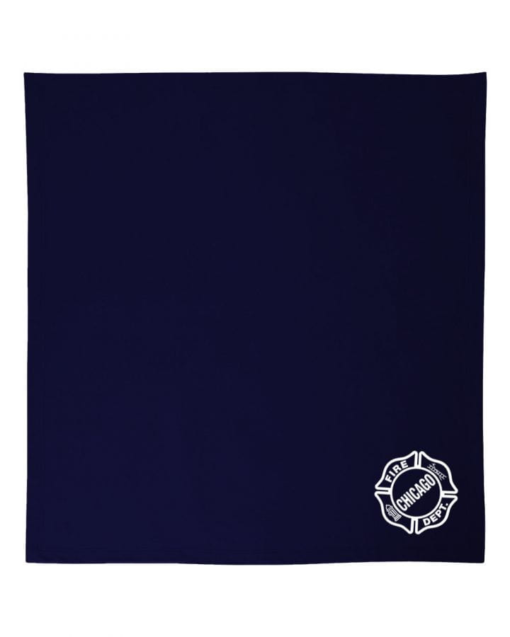 Chicago Fire Dept. - Cuddly blanket in navy