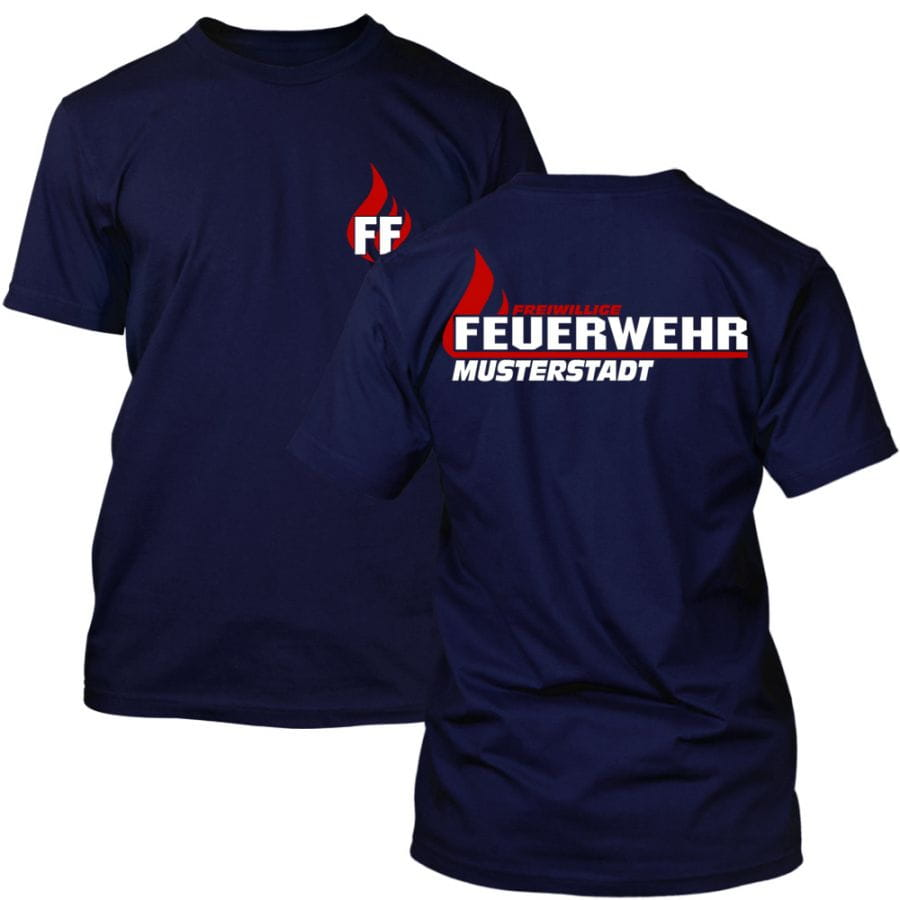 Volunteer Fire Brigade T-Shirt with place name
