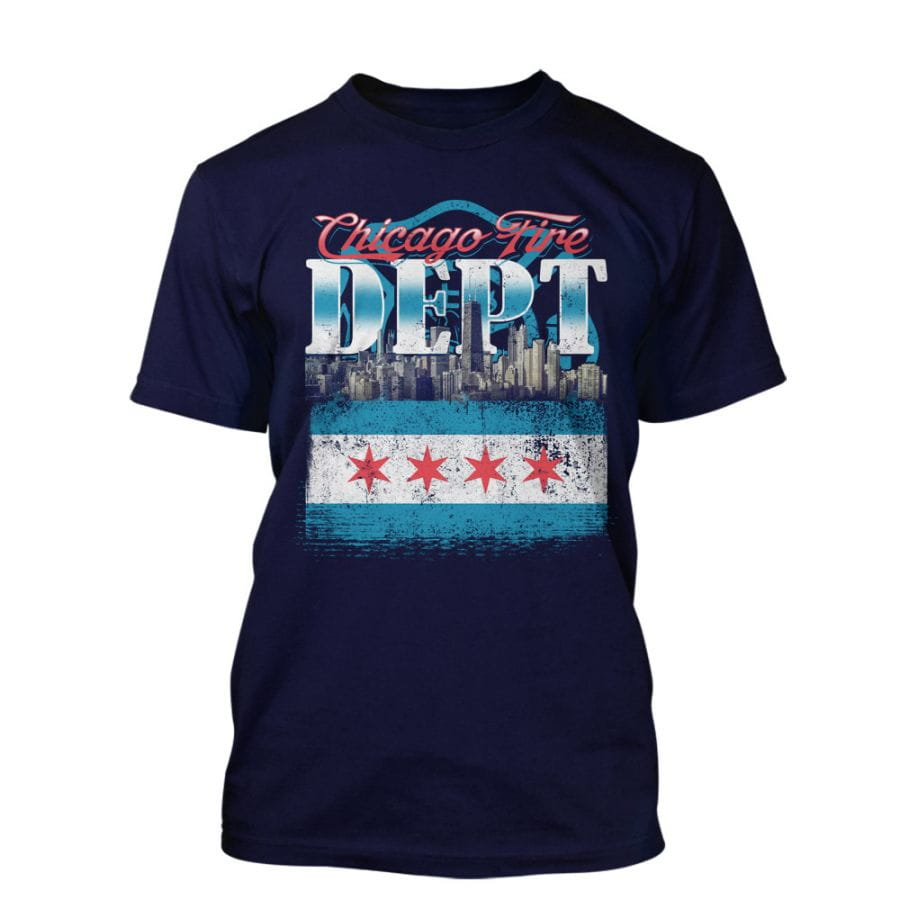 "Chicago Fire Dept. - T-Shirt ""Chicago Skyline"""