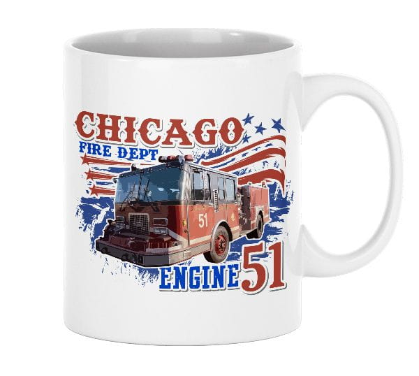 Chicago Fire Dept. - Engine 51 - Ceramic mug