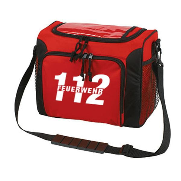 Fire brigade 112 cooling bag in red