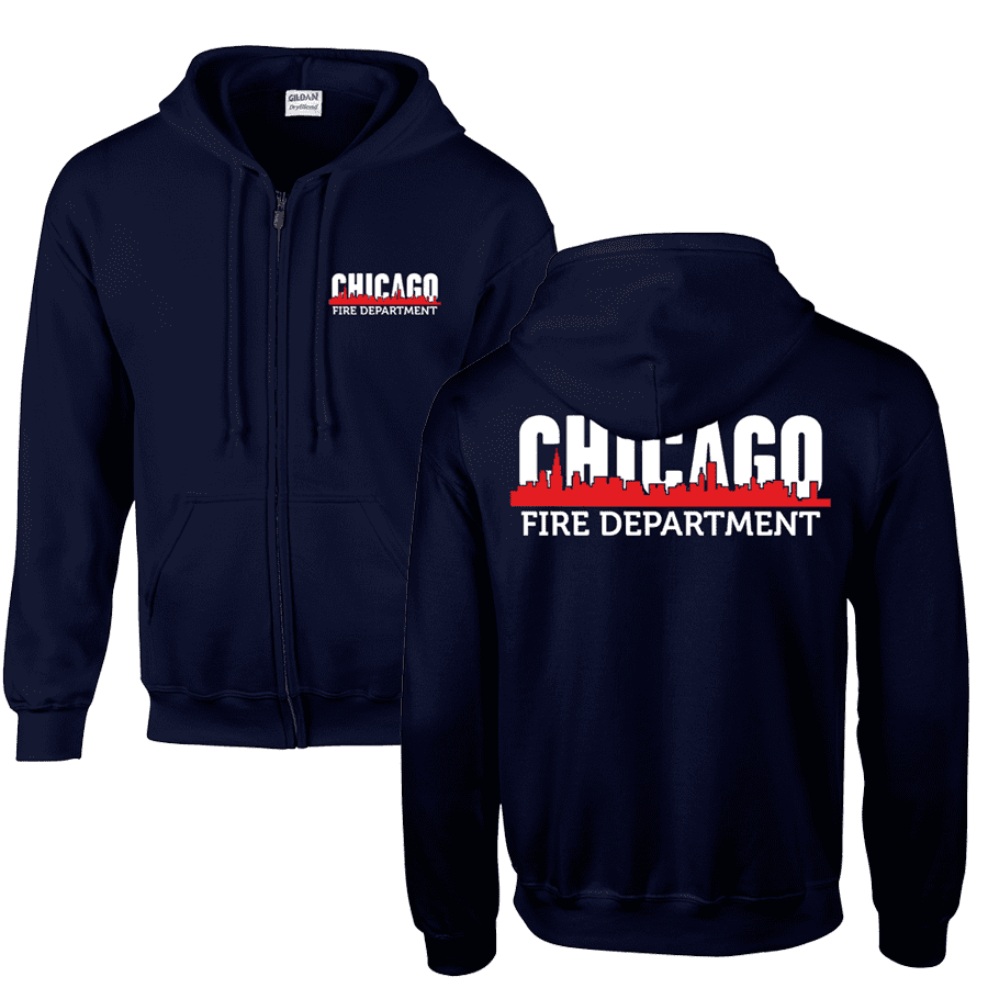 Chicago Fire Dept. - Sweat jacket with skyline motif