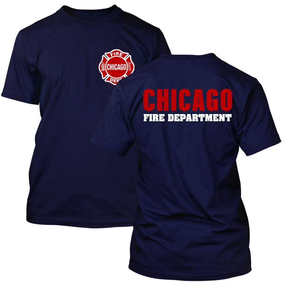 Chicago Fire Dept. - T-shirt with logo and lettering