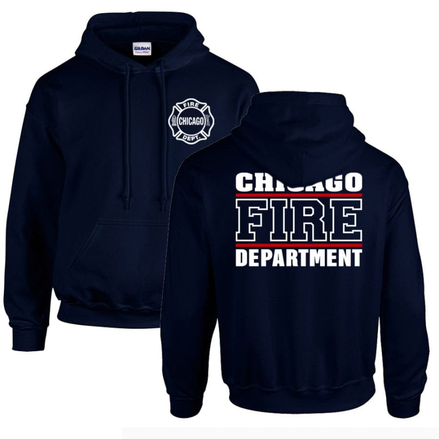 Chicago Fire Dept. - Pullover mit Kapuze (Red Line)