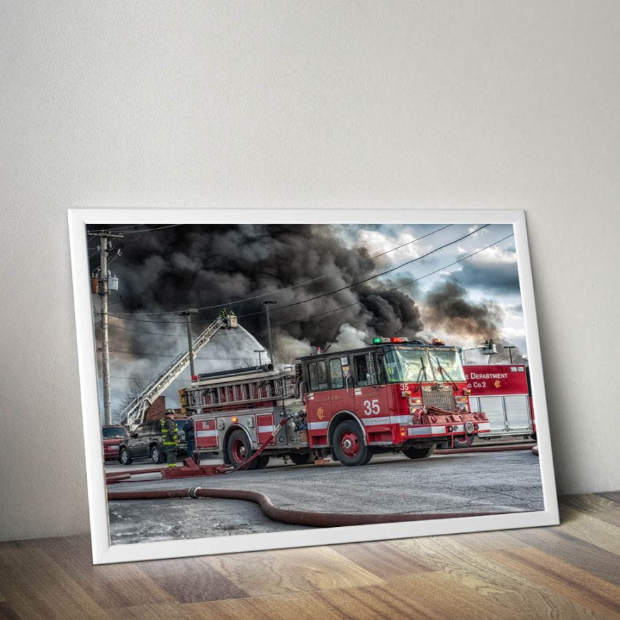 Chicago Fire Dept. - Engine 35 Poster (A1 - 59,4 cm x 84,1 cm)