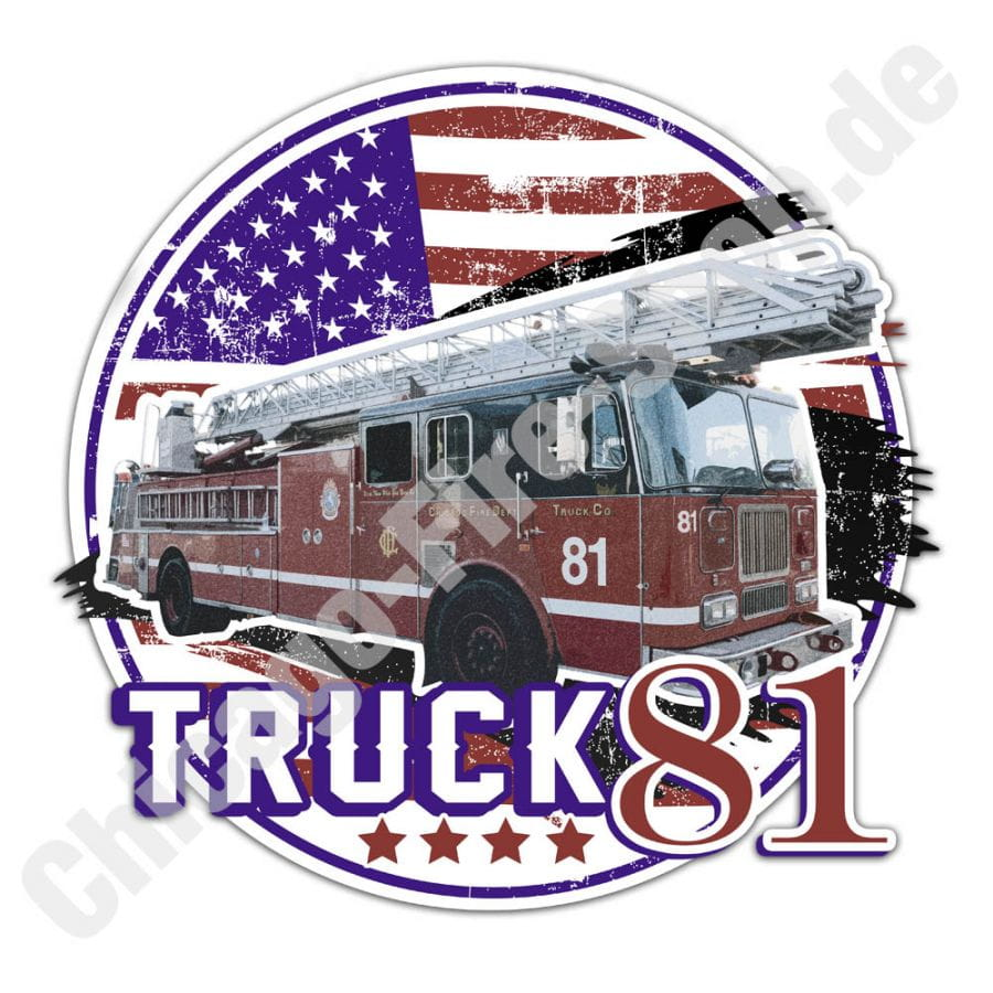 Chicago Fire Dept. - Truck 81 - Sticker (9cm)
