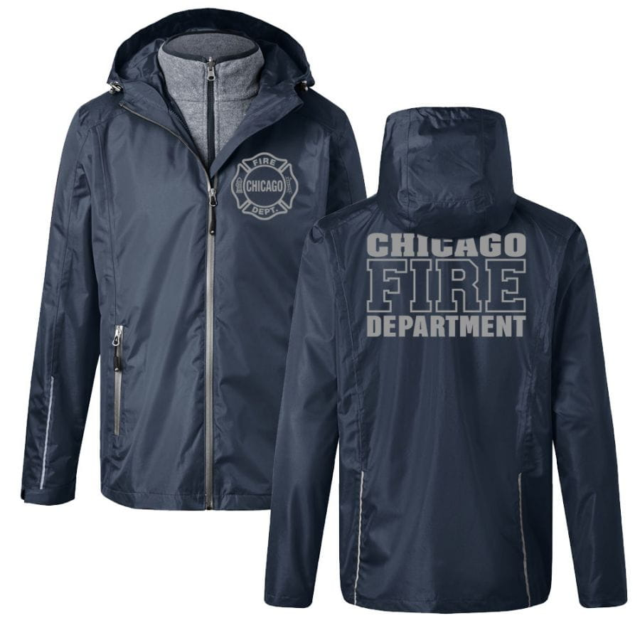 Chicago Fire Dept. - 3 in 1 Jacke (Silver)